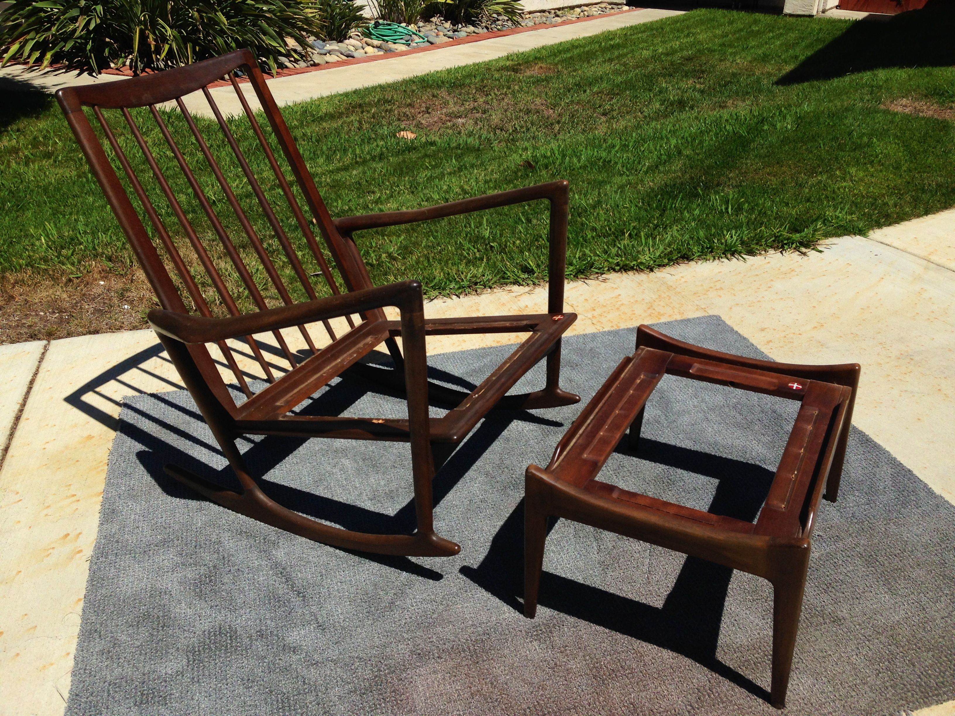 ... Selig Z Chair Plans By Just In Kofod Larsen Rockin Rocker And Ottoman  By Selig Let ...